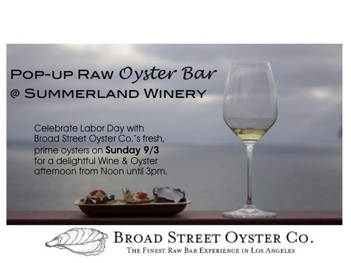 Summerland Winery - Raw Oyster Bar